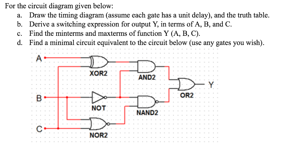 Solved autigers for the circuit diagram given belowa for the circuit diagram given below a draw the timing diagram assume each ccuart Image collections
