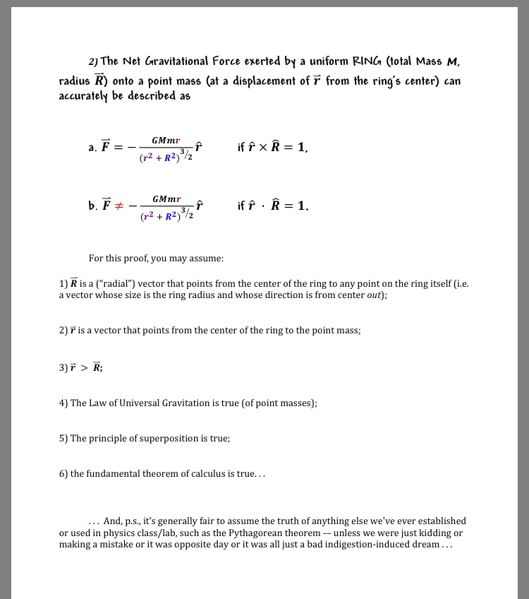 19a34988f7742 Solved: The Net Gravitational Force Exerted By A Uniform R ...