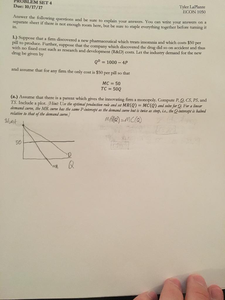 Economics archive october 15 2017 chegg problem set 4 due 101717 tyler laplante econ 1050 answer the fandeluxe Choice Image