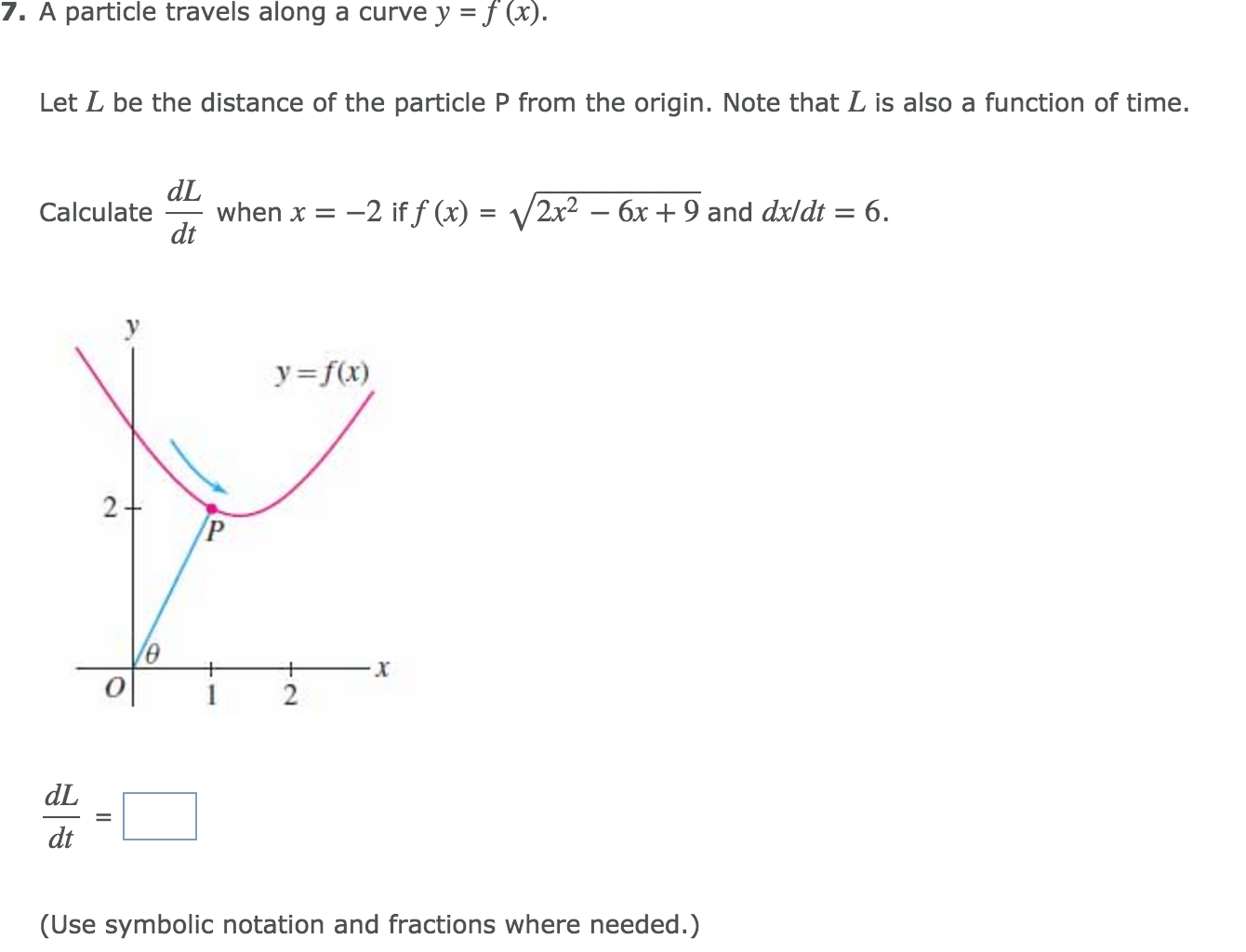 Solved: A Particle Travels Along A Curve Y = F(x)  Let L B