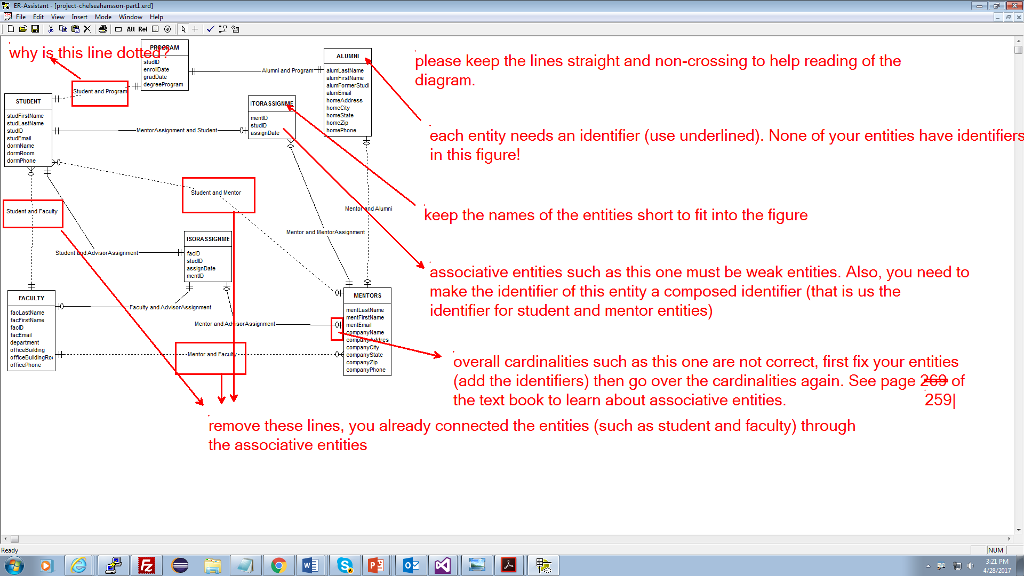Using erd assistant please correct the diagram wi chegg using erd assistant please correct the diagram with the following comments you will be graded on how well you understand and follow directions ccuart Images