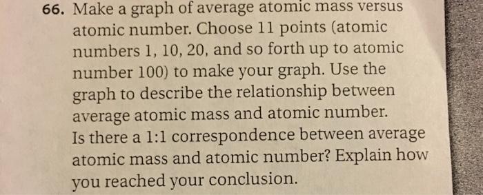 Make A Graph Of Average Atomic Mass Versus