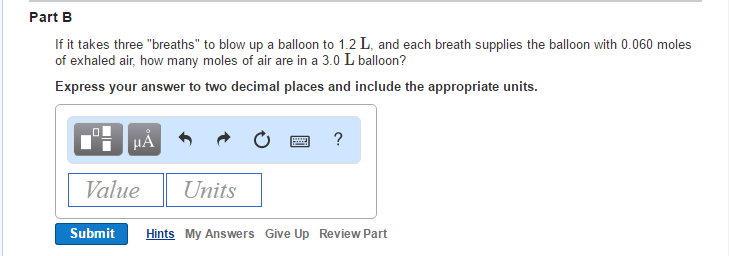 solved if it takes three breaths to blow up a balloon t