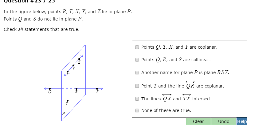 Solved: In The Figure Below, Points R, T, X, Y, And Z Lie