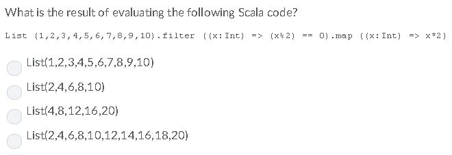 Solved: What Is The Result Of Evaluating The Following Sca