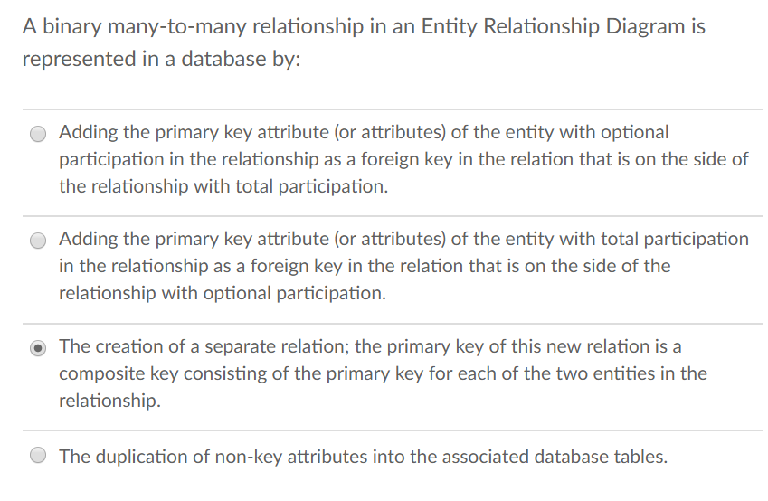 Solved a binary many to many relationship in an entity re a binary many to many relationship in an entity relationship diagram is represented in ccuart Choice Image