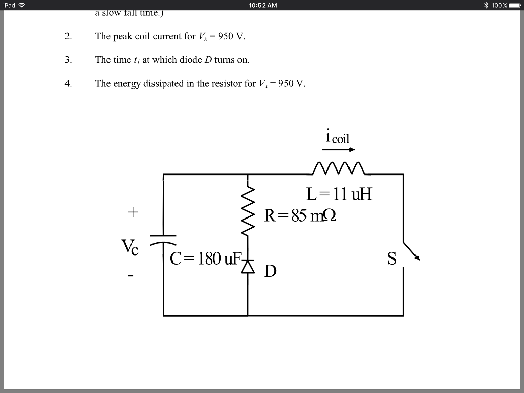 Solved Figure 01 Shows The Circuit Diagram Of A Magnetic Inductor Pad 1052 Am 100 Slow Iall Time