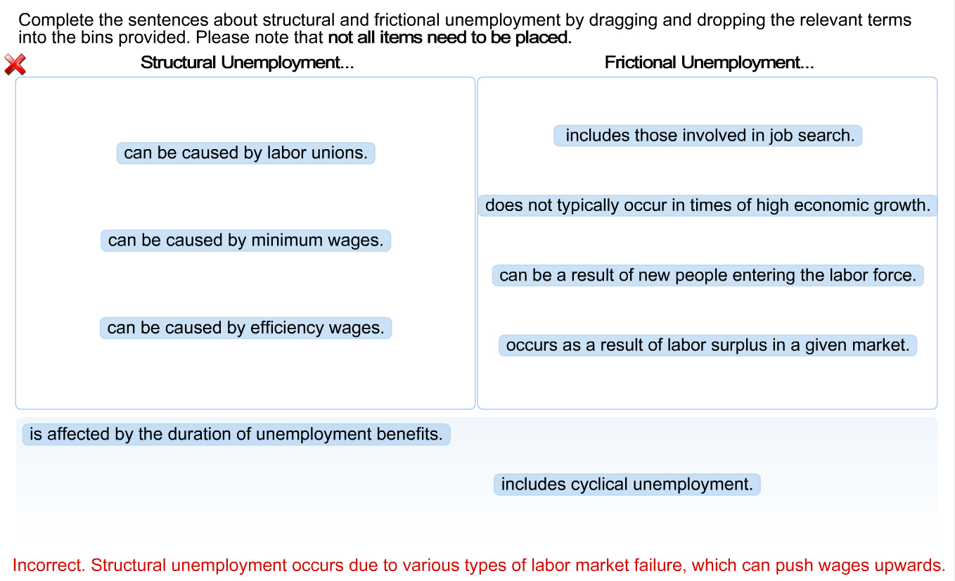 economics archive com image for complete the sentences about structural and frictional unemployment by dragging and dropping the relevant