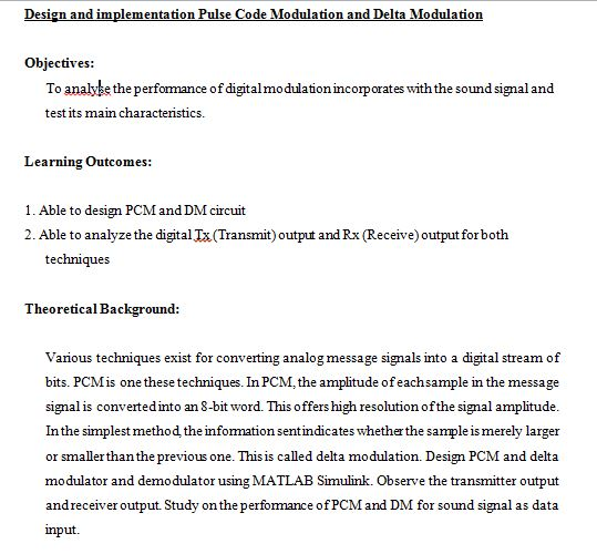 Solved Design And Implementation Pulse Code Modulation An Chegg Com