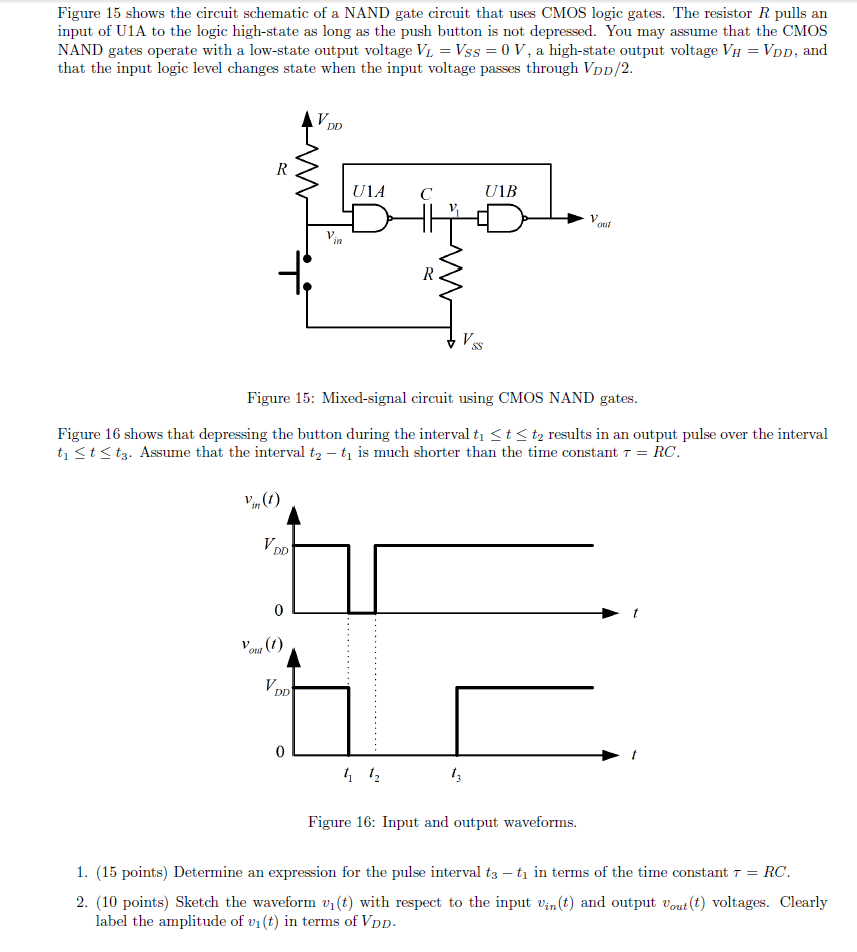 Solved: Figure 15 Shows The Circuit Schematic Of A NAND Ga ... on