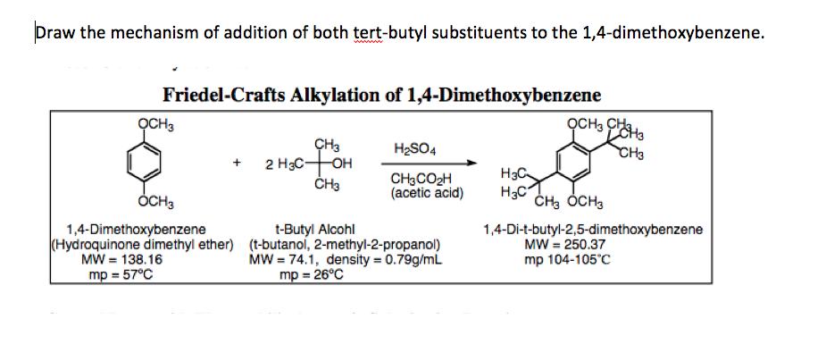 2 tert butyl 1 4 dimethoxybenzene