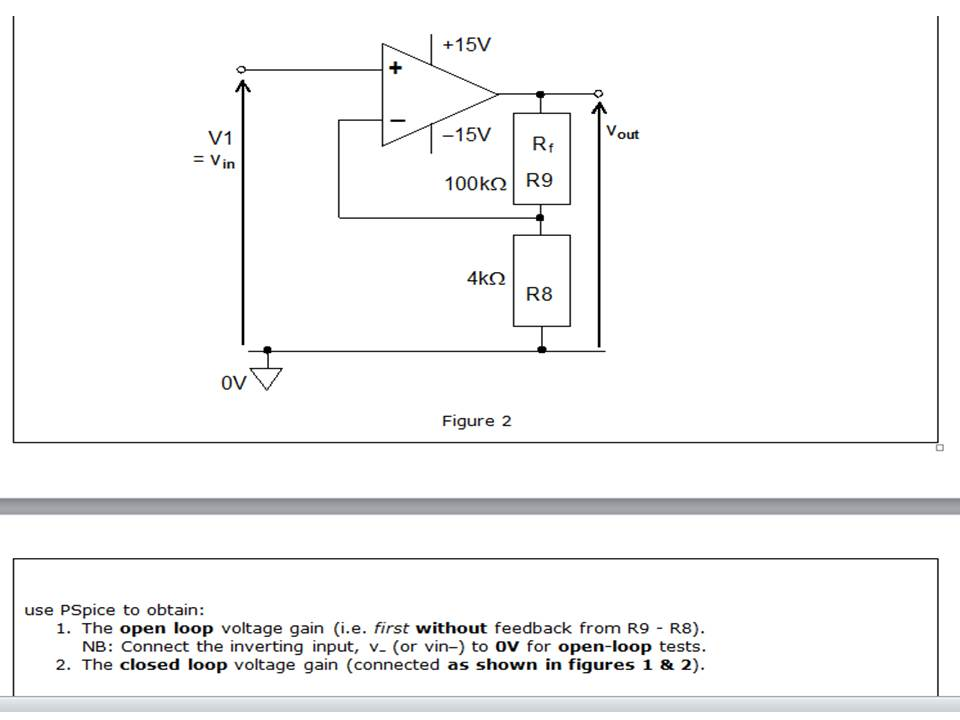 Task 2c (LO3: 3.3) (1) Simulate The Amplifier Mode ... Orcad Schematics on