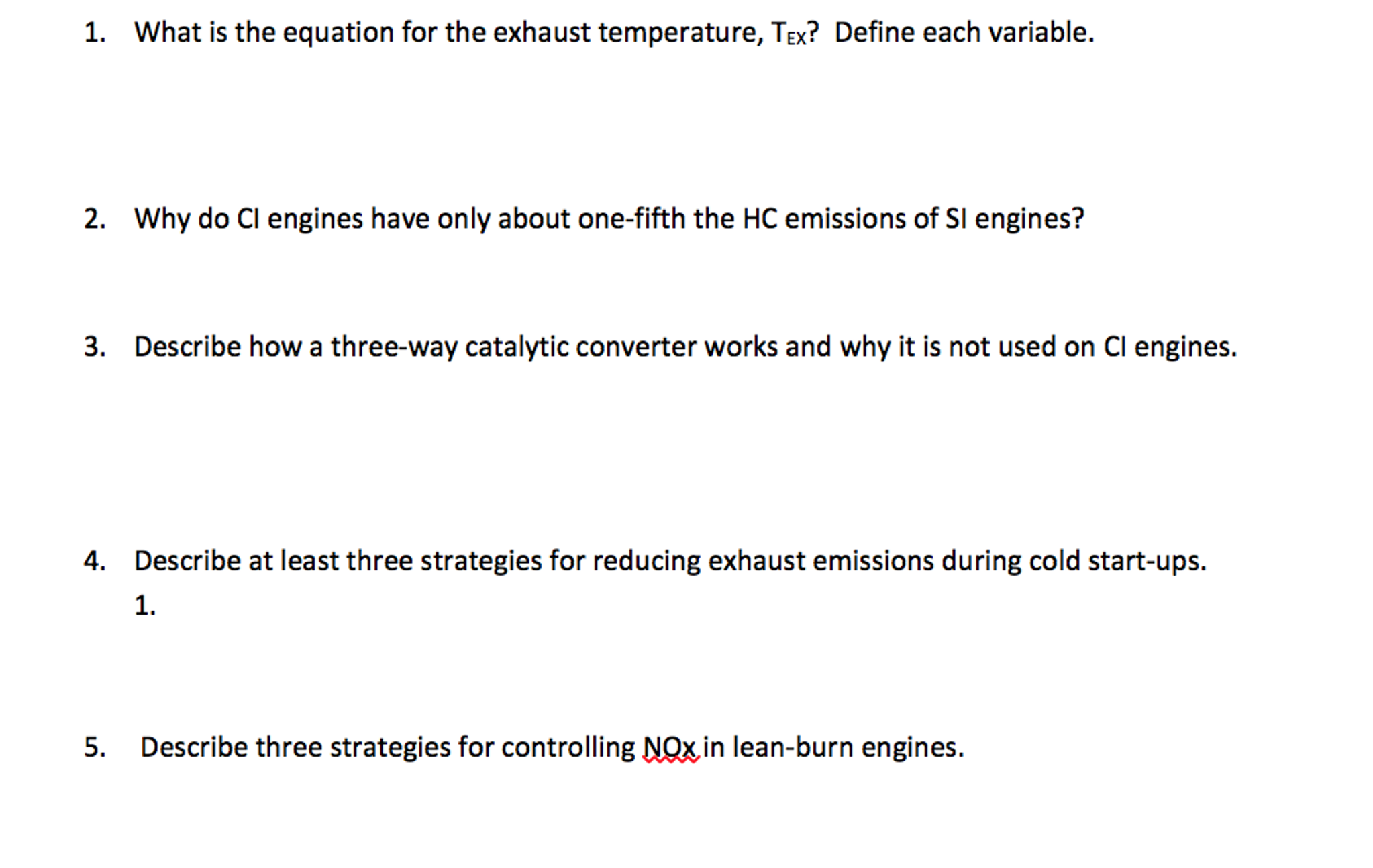 What Is The Equation For The Exhaust Temperature,     | Chegg com