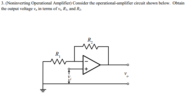 solved  obtain the output voltage vo in terms of vi   r1