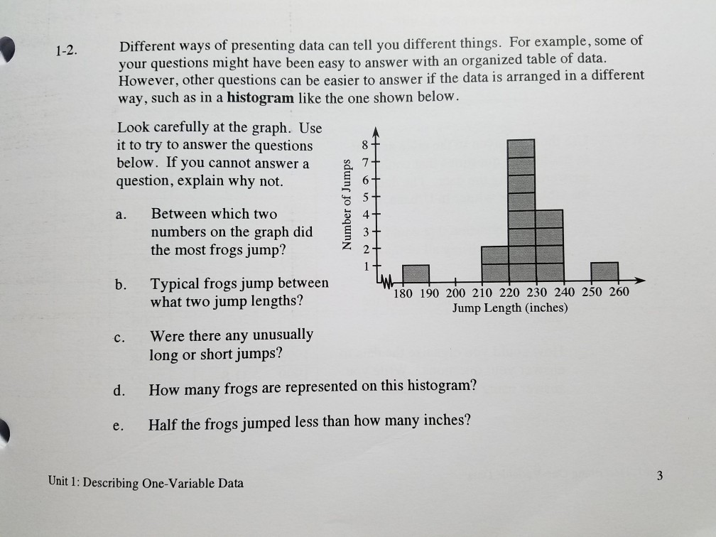 Solved: Math- Statistics - Need Help With #1-2 (a-e) - Ple