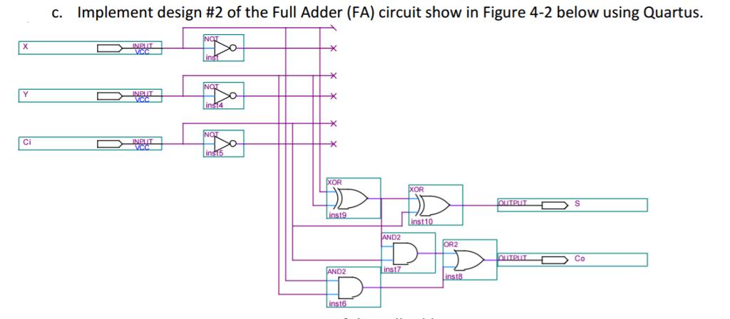 A  Draw The Diagram Of A Half Adder  Ha  Circuit U