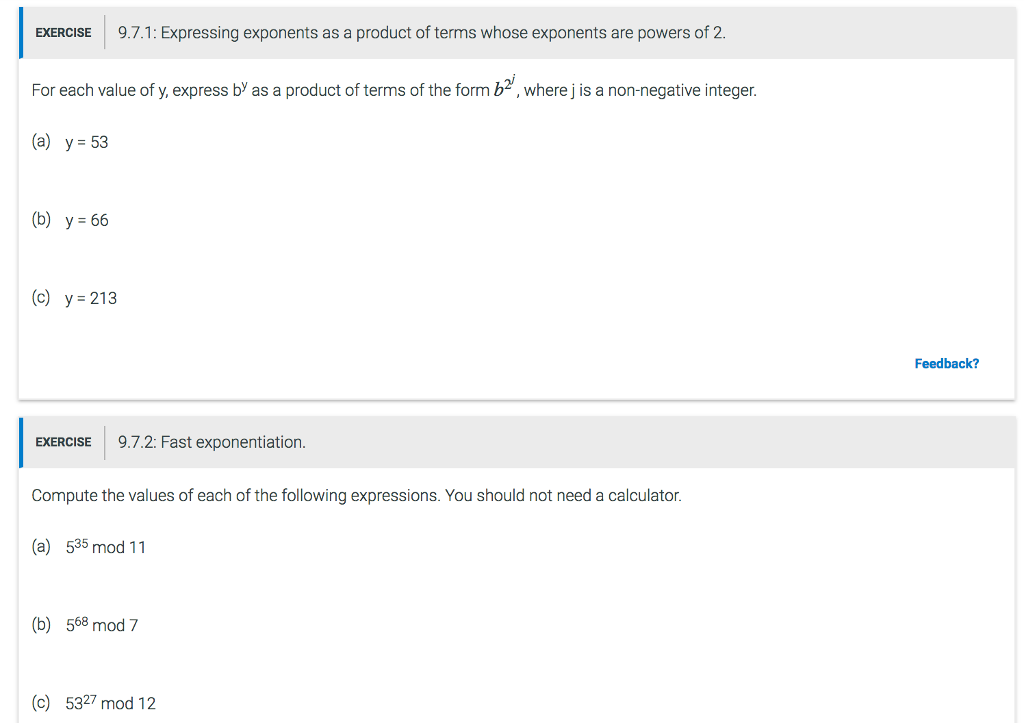 Solved: EXERCISE 9 7 1: Expressing Exponents As A Product