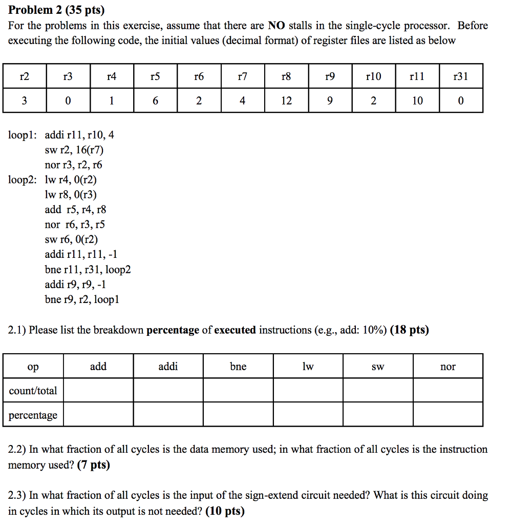 Solved: Problem 2 (35 Pts) For The Problems In This Exerci ...