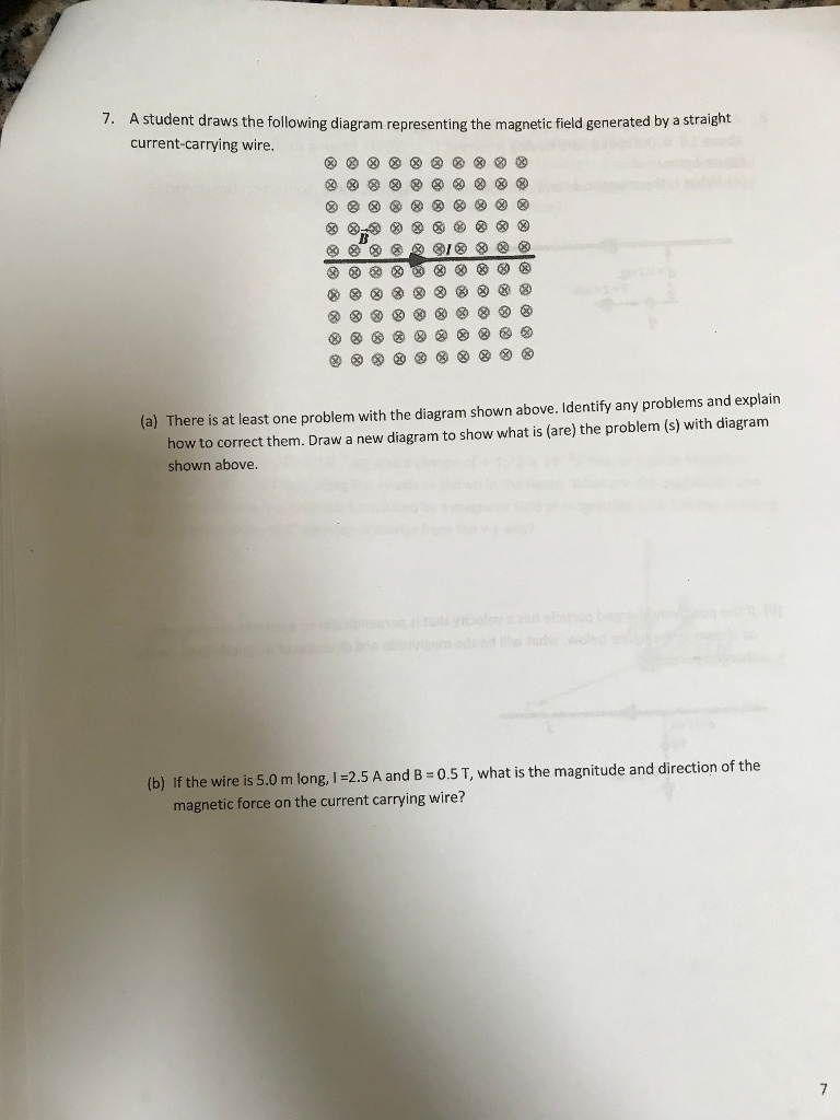 Solved: A Student Draws The Following Diagram Representing ...