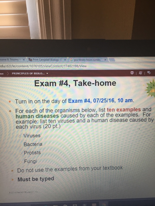 Solved: Turn In On The Day Of Exam #4, 07/25/16, 10 Am  Fo