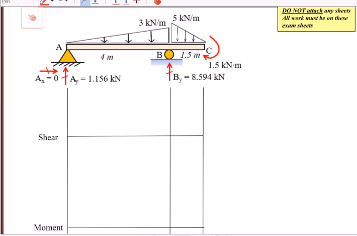 Solved Draw Shear A Moment Diagrams For The Beams Label