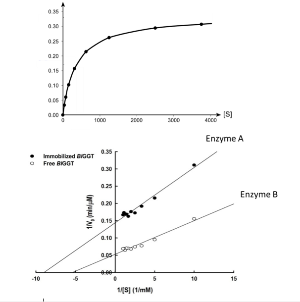 Solved quiz week 4 bchm 451 name enzyme a enzyme b is 1 show transcribed image text quiz week 4 bchm 451 name enzyme a enzyme b is 1 estimate km and vmax from the michaelis menten graph above on the ccuart Images