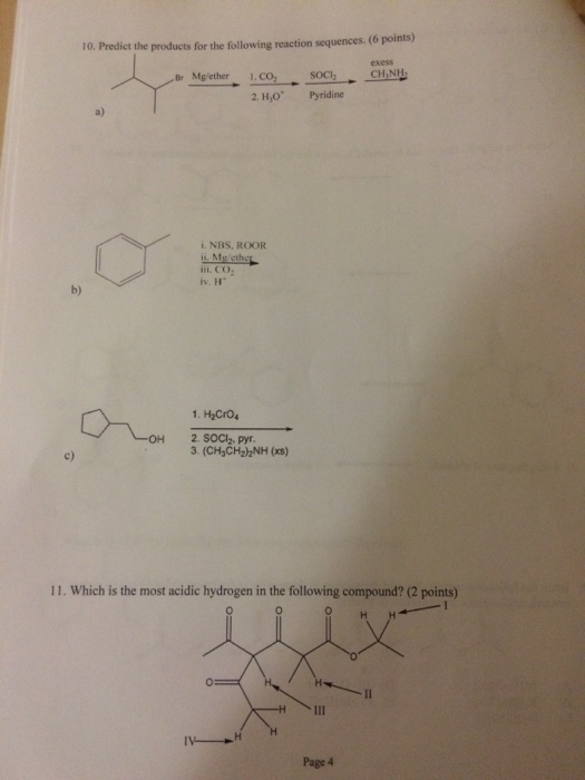 Solved: Organic Chemistry Practice Test? Can Someone Pleas