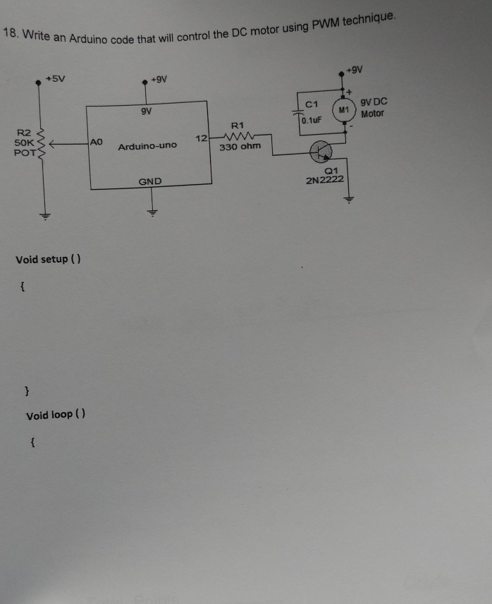 Solved: An Arduino Code That Will Control The DC Motor Usi