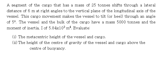 Solved: A Segment Of The Cargo That Has A Mass Of 25 Tonne