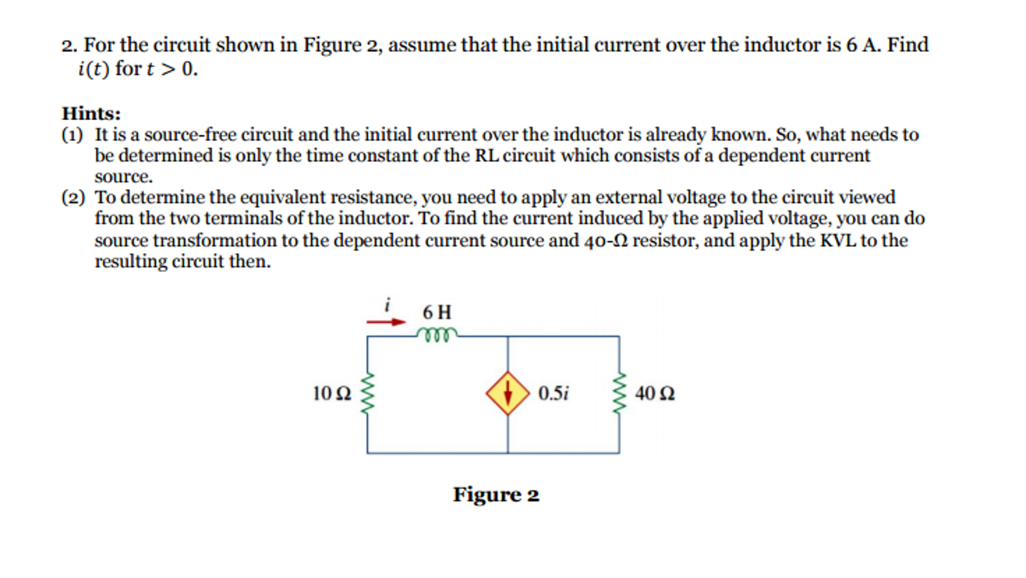 Solved For The Circuit Shown In Figure 2 Assume That Find Equivalent Resistance Re Of S Cheggcom