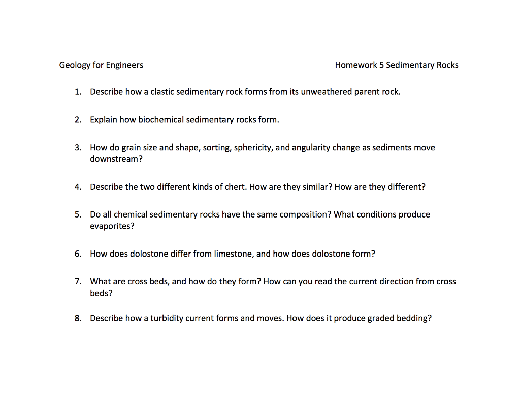worksheet Biochemical Evidence For Evolution Worksheet earth sciences archive february 23 2018 chegg com geology for engineers homework 5 sedimentary rocks describe how a clastic rock forms from its