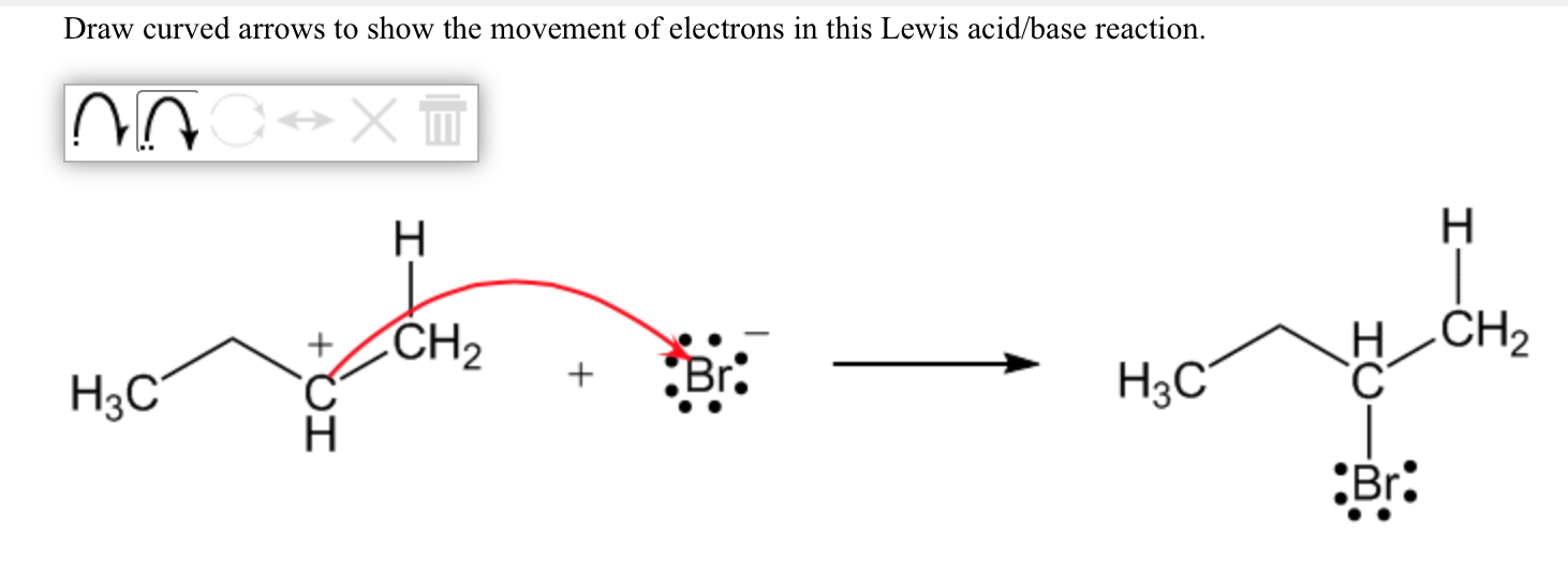 solved draw curved arrows to show the movement of electro