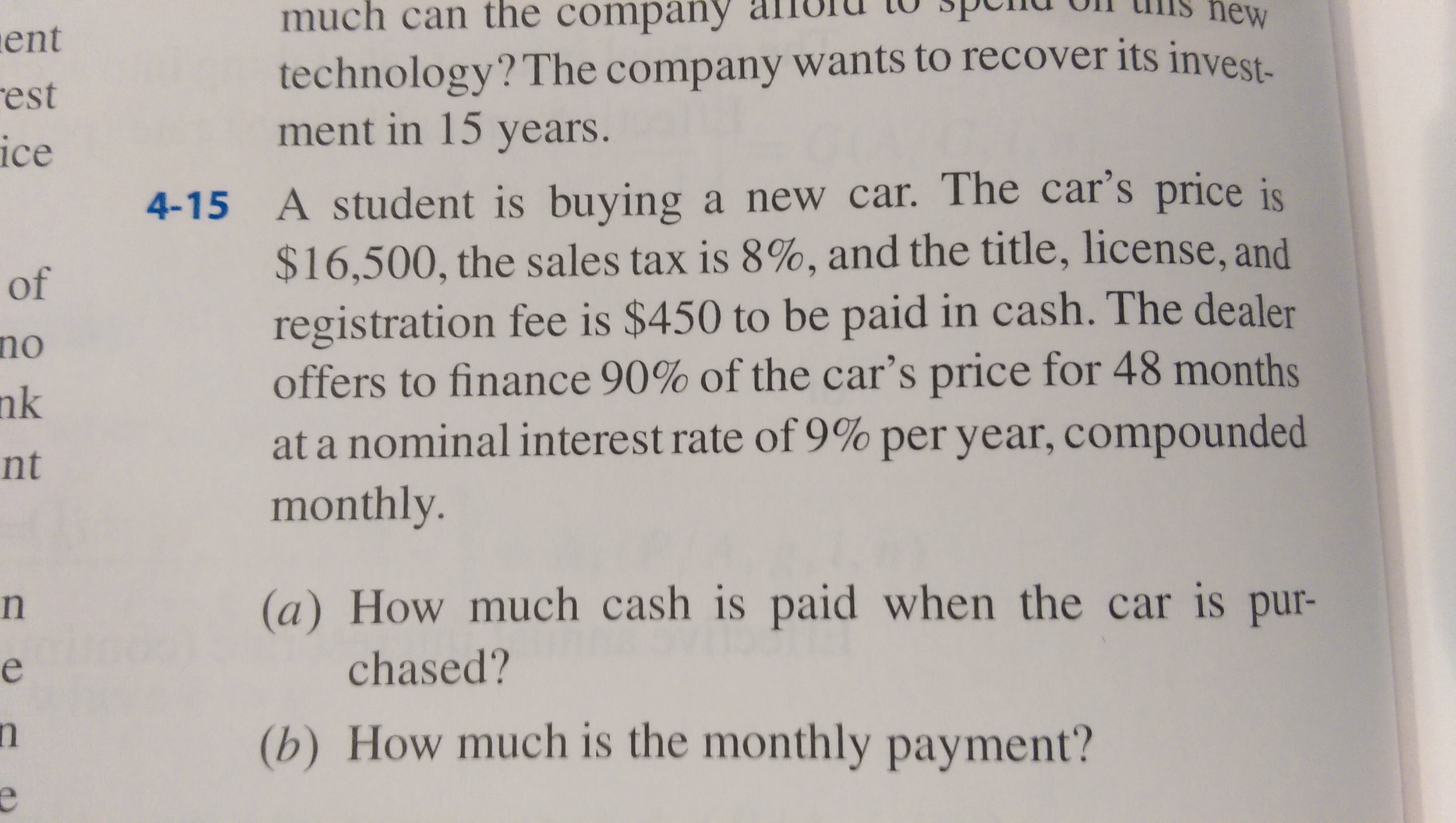 Solved: A Student Is Buying A New Car. The Car\'s Price Is ...