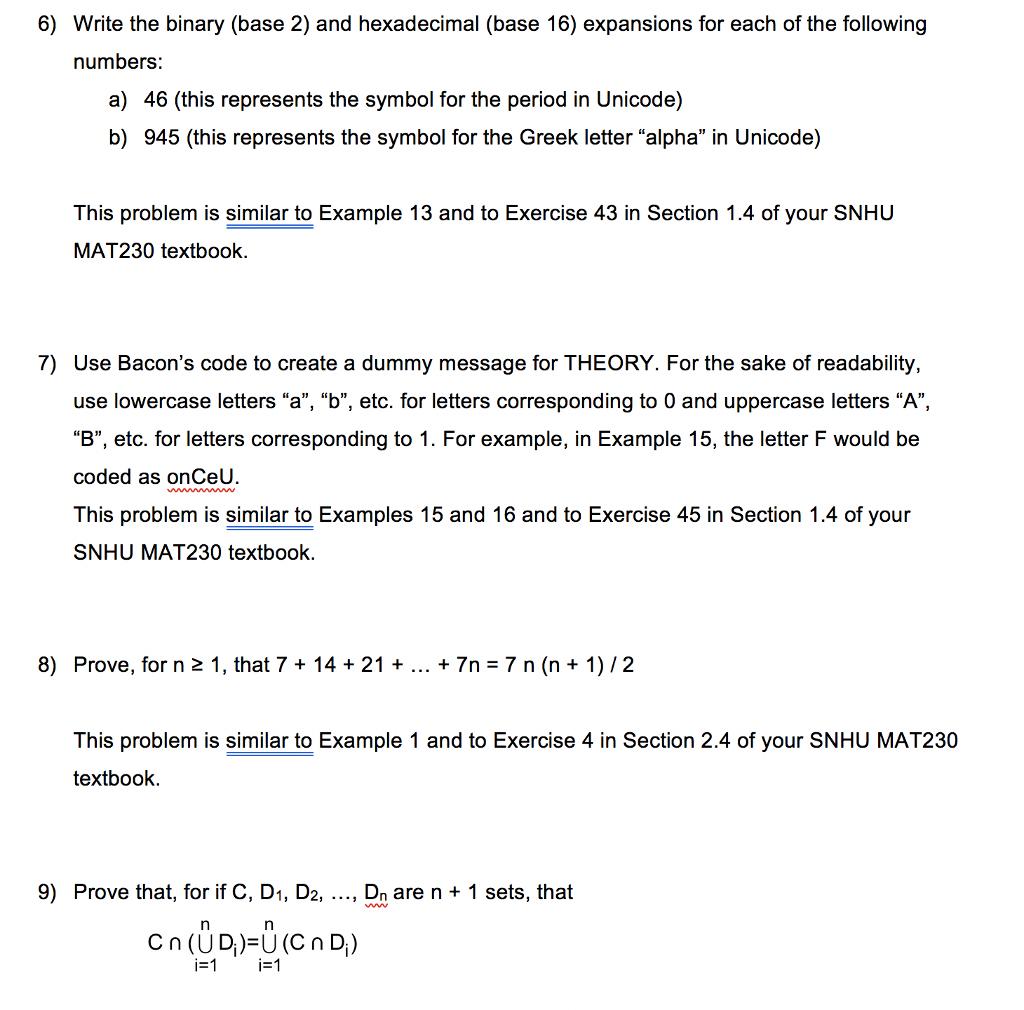 Solved 6 Write The Binary Base 2 And Hexadecimal Base