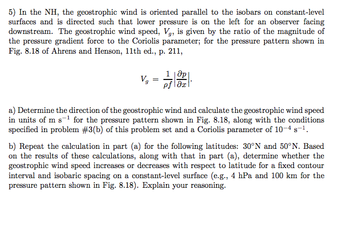 In The NH, The Geostrophic Wind Is Oriented Parall