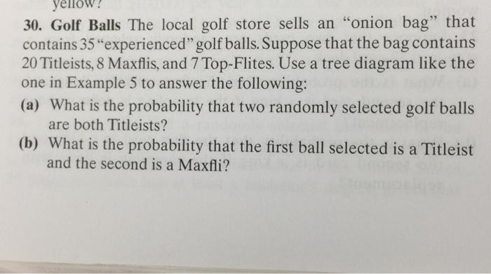 389fccc025e7 Golf Balls The local golf store sells an onion bag that contains