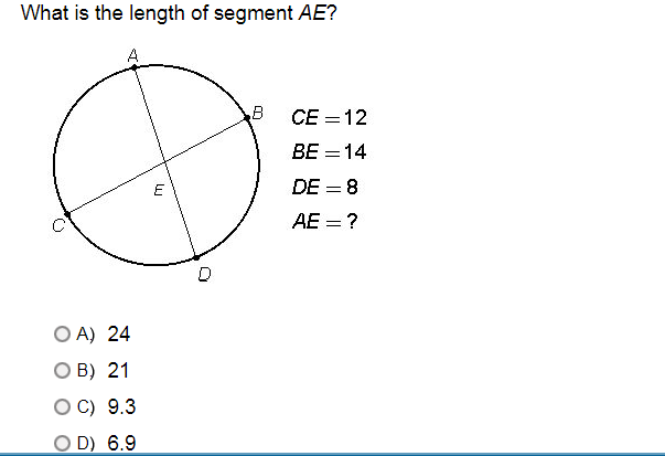 What Is Ce >> Solved What Is The Length Of Segment Ae Ce 12 Be 14 D