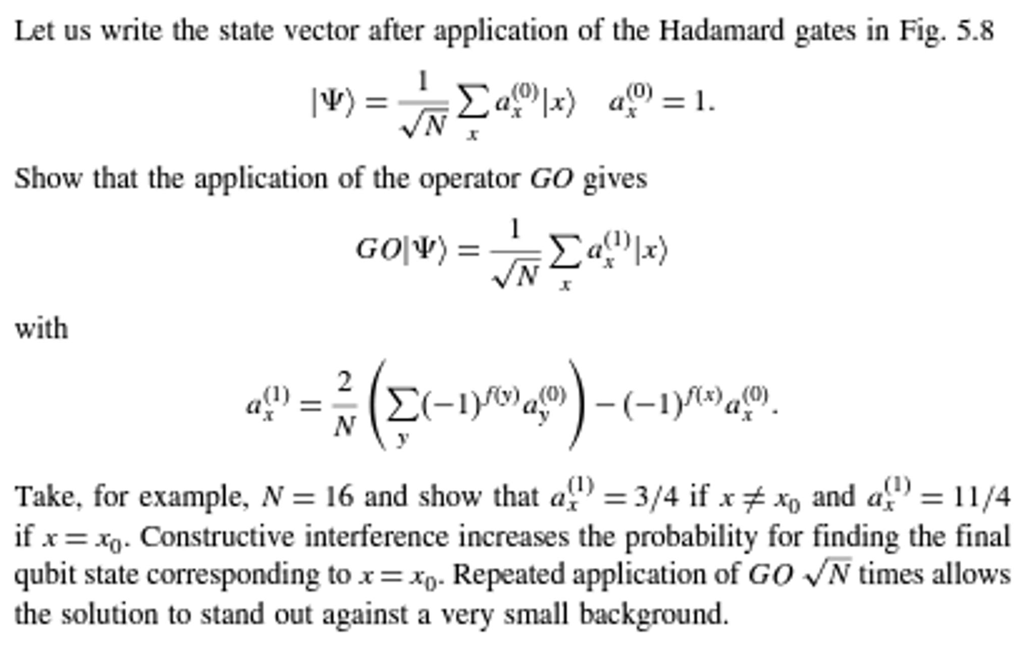 Figure 58 A Logic Circuits Of The Grover Algori Gates Circuit Examples Quantum Mechanics Problem