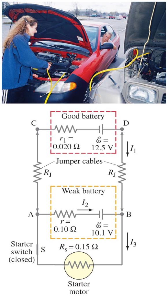 Solved Example 26 10 Jump Starting A Car A Good Car Bat