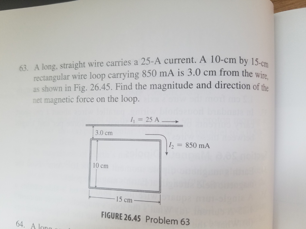 Solved: A Long, Straight Wire Carries A 25-A Current. A 10 ...