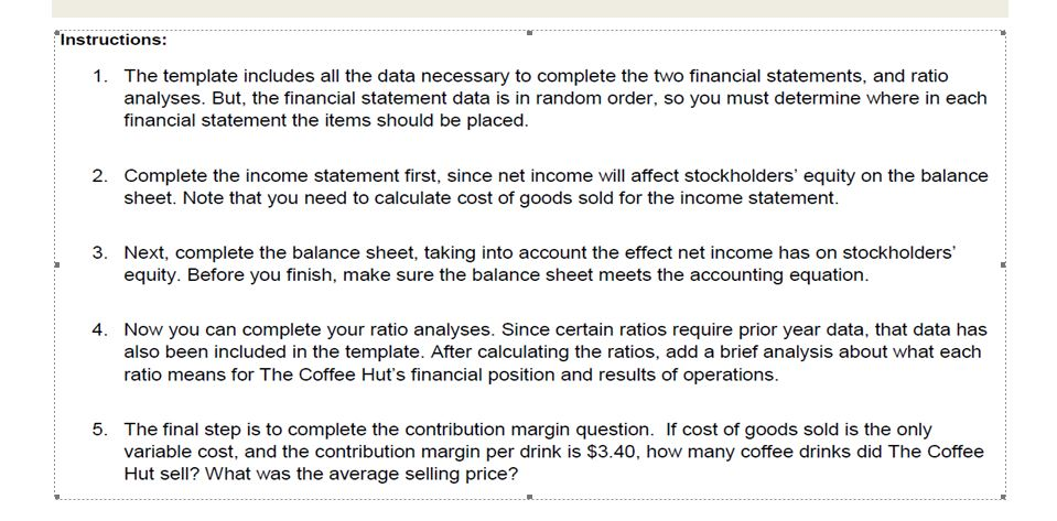 using the excel spreadsheet prepare an income stat chegg com