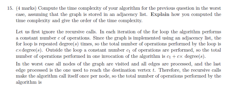 Solved: 15  Compute The Time Complexity Of Your Algorithm