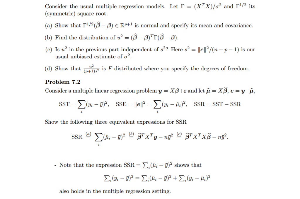 multiple regression solved problems To conduct a regression analysis, we need to solve for b 0 and b 1 computations are shown below computations are shown below notice that all of our inputs for the regression analysis come from the above three tables.
