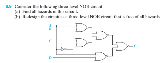 solved concider t following three level nor circuit fin