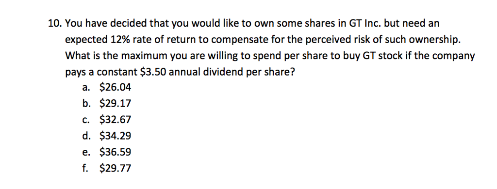 Solved: 7  MMM Company Recently Paid A $3 60 Annual Divide