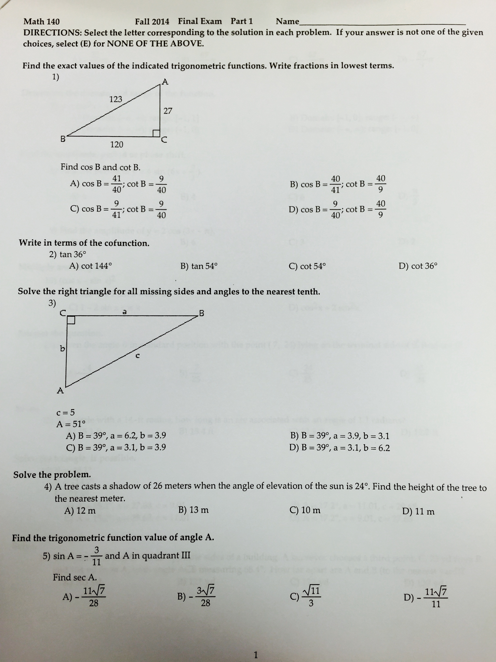 Solved: I NEED HELP WITH MY MATH TEST, I MAINLY NEED TO PR ...