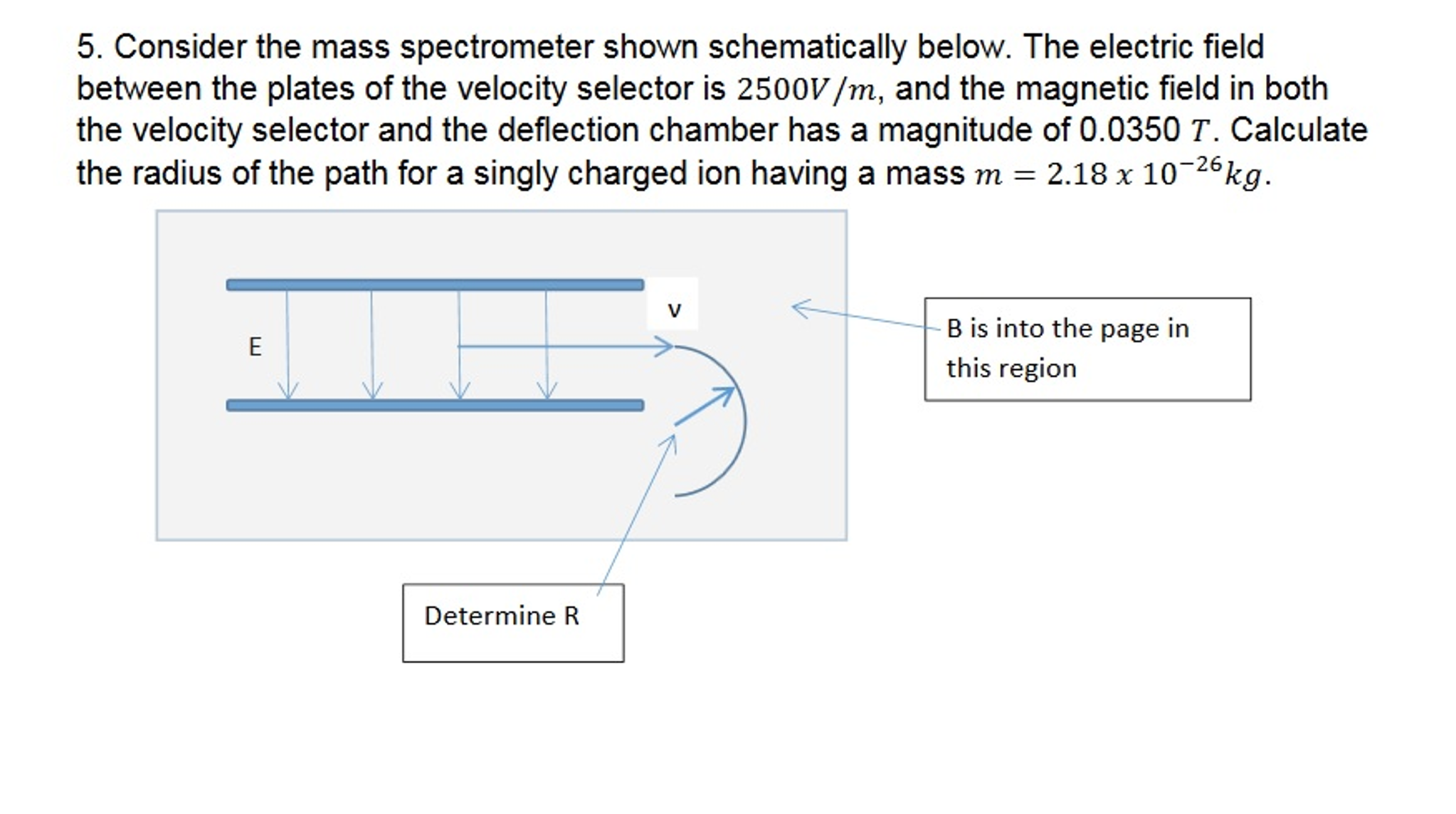 Solved: Consider The M Spectrometer Shown Schematically ... on