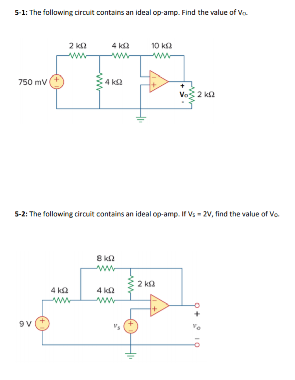 Electrical engineering archive march 25 2018 chegg 5 1 the following circuit contains an ideal op amp find the fandeluxe Image collections