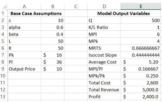 1  Base Case Model: Build A C-D Simulation Model