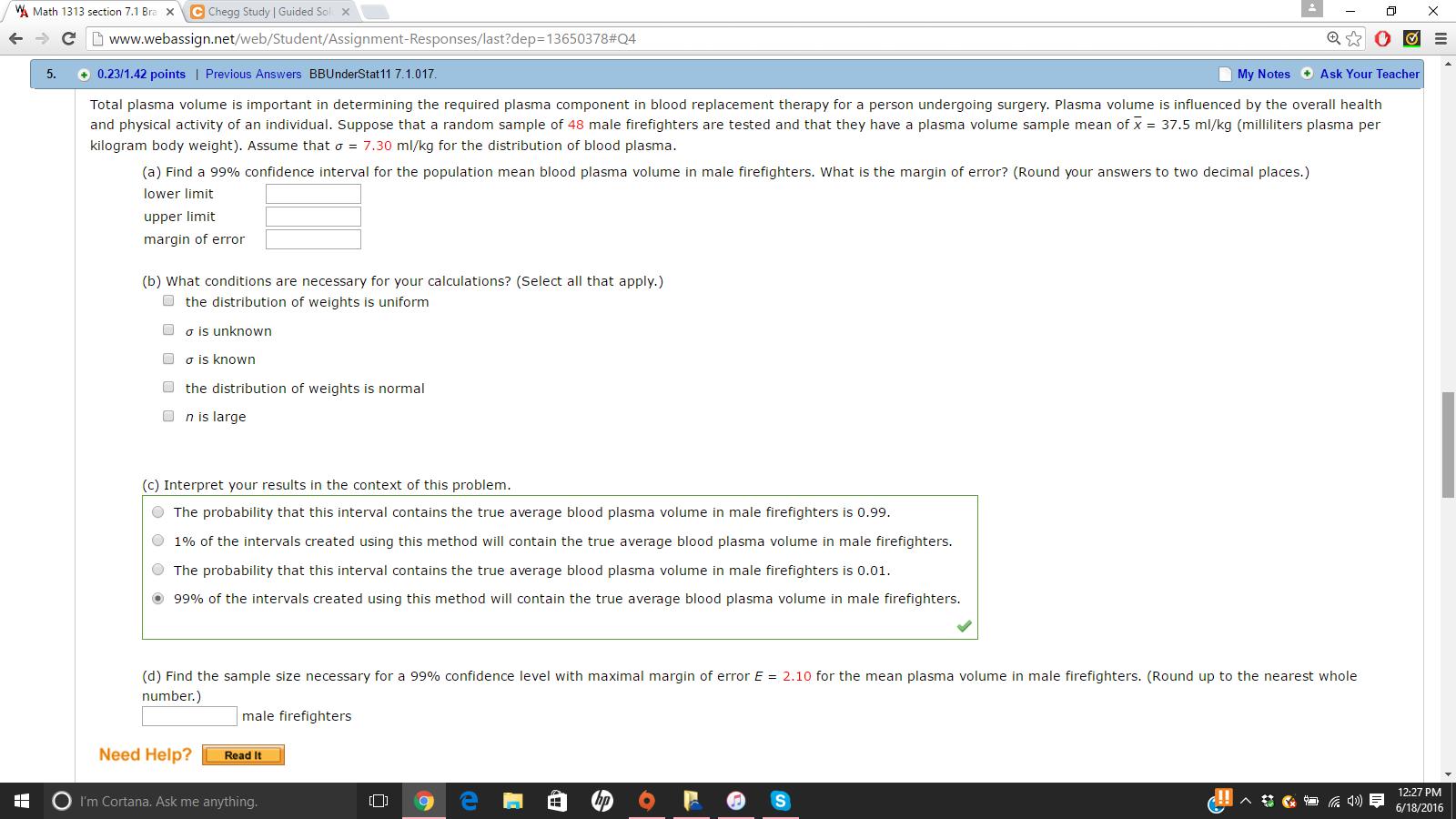 Solved: VA Math 1313 Section 7 1 Bra X C Chegg Study IG Ww